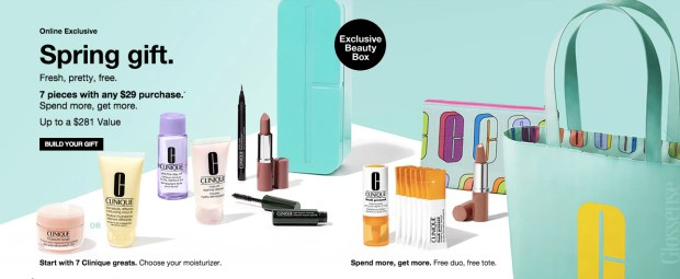 Clinique Canada April 2019 Spring Gift with Purchase Canadian GWP Hot Canadian Deals Freebies Promo Code Coupon Codes Beauty Offer - Glossense