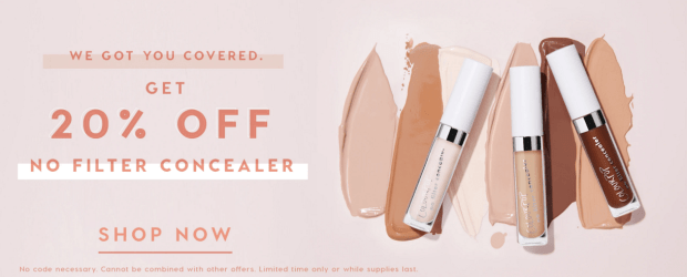 ColourPop Cosmetics Canada Sale on No Filter Concealer Concealers Canadian Beauty Makeup Deals Save Savings - Glossense