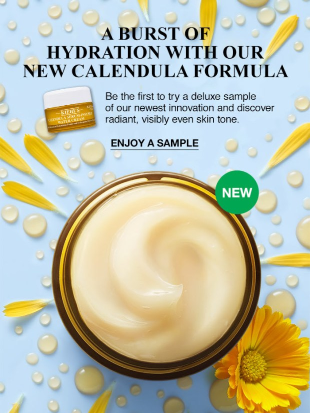 Kiehl's Canada Canadian Freebies GWP Free Calendula Serum-Infused Water Cream Deluxe Sample with Purchase - Glossense