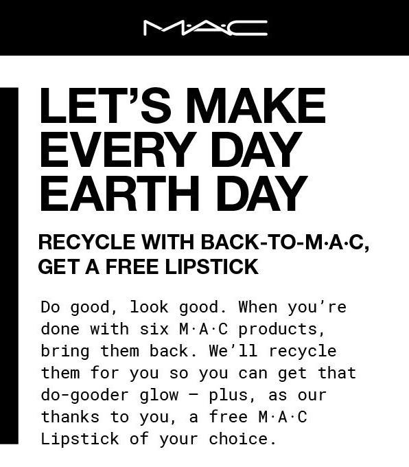 MAC COSMETICS CANADA BACK-TO-MAC: Free Full-size Lipstick