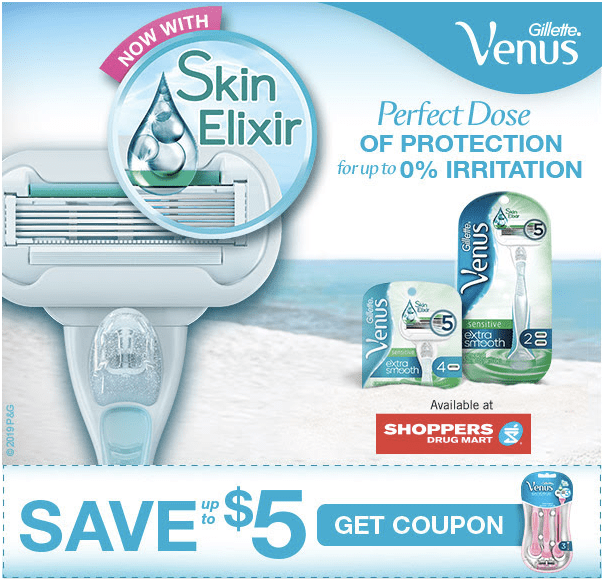 image about Venus Razors Printable Coupons titled PG Daily CANADA CANADIAN Coupon codes: Fresh Gillette Venus