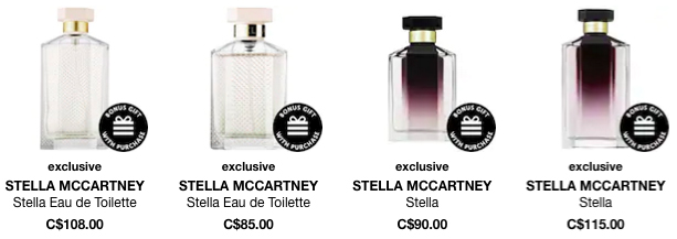 Sephora Canada Canadian Stella McCartney Perfume Perfumes Fragrances Fragrance GWP Gift with Purchase Promo Code Coupon Codes Beauty Offer - Glossense