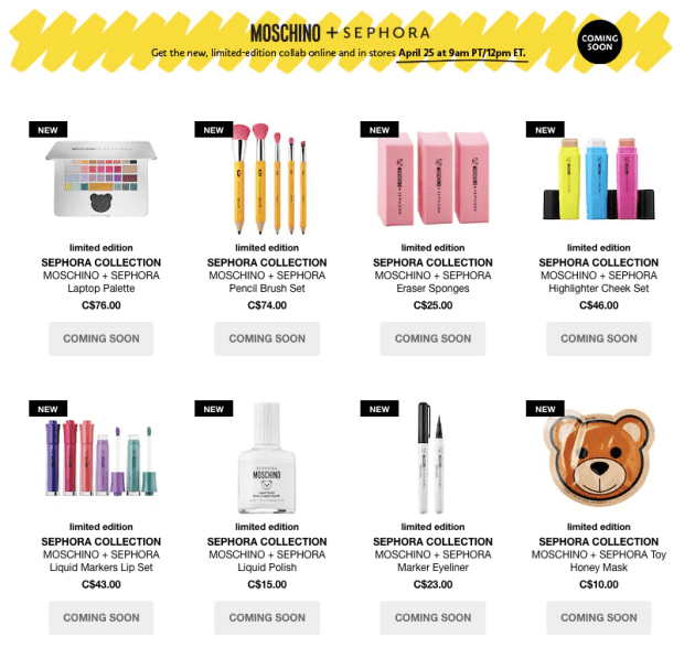Sephora Canada Moschino Sephora Collection Back to School Themed Makeup Supplies School Supply Canadian New Arrival New Release Launches April 25 2019 - Glossense
