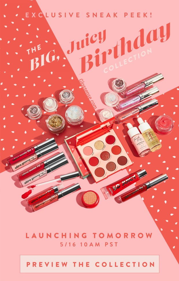 ColourPop Cosmetics Canada Canadian Deals New Launch Big Juicy Birthday Collection Coral Melon 5 Years Anniversary May 2019 - Glossense