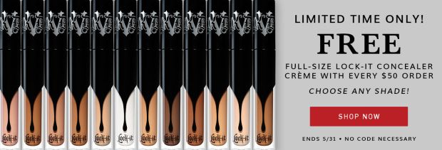 Kat Von D Canada KVD Beauty Canadian Deal Free Full size Lock It Concealer Creme w/ Purchase May 2019 - Glossense