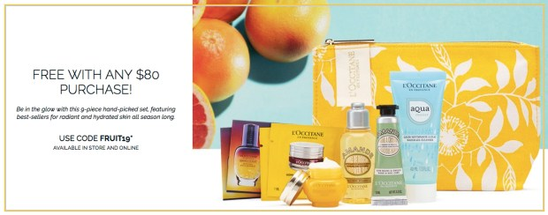 L'Occitane en Provence Canada Free May 2019 Gift Rewards Free Glowing Beauty Gift with Purchase 2019 Canadian May GWP Promo Coupon Code - Glossense