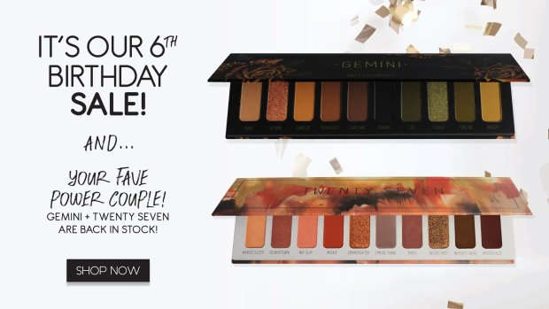 Melt Cosmetics Canada Canadian Hot Deals Sale Specials Discounts Beauty Makeup 6th Birthday Sale Restock Palettes May 17 2019 - Glossense