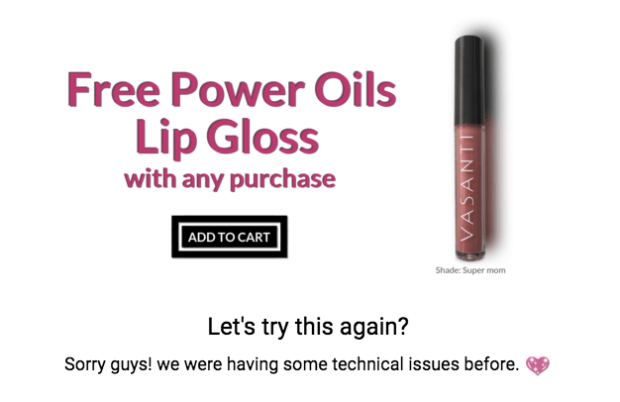Vasanti Cosmetics Canada Canadian Mother's Day Freebies Free Super Mom Lip Gloss Sale Canadian 2019 Deals Beauty Offer Promotion - Glossense