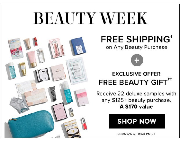 Hudson's Bay Canada The Bay HBC Beauty Week June 2019 Canadian Deals Beauty Gift with Purchase GWP Bonus Offer Samples Makeup Bag - Glossense
