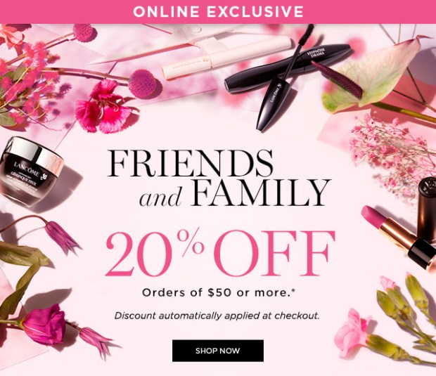 Lancome Canada Canadian Friends and Family 2019 Sale Event Canadian Beauty Deals Makeup Skincare - Glossense