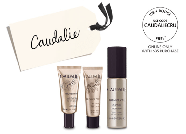 Sephora Canada Beauty Insider Gift June 2019 Rouge VIB Free Canadian Caudalie Premier Cru Skincare Trio 3-pc GWP Gift with Purchase Promo Code Coupon Codes Beauty Offer Reward Perks - Glossense