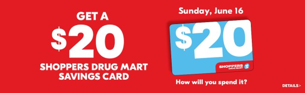 Shoppers Drug Mart Beauty Boutique SDM Canada Canadian In-store June 16 2019 $20 dollar Savings Card Offer - Glossense