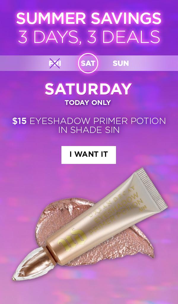 Urban Decay Cosmetics Canada Save on Eyeshadow Primer Potion Day 2 Canadian Summer Savings Event - Glossense