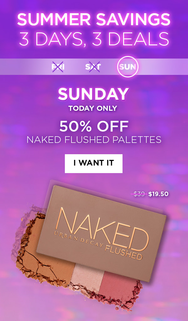 Urban Decay Cosmetics Canada Save on Naked Flushed Palette Day 3 Canadian Summer Savings Event - Glossense