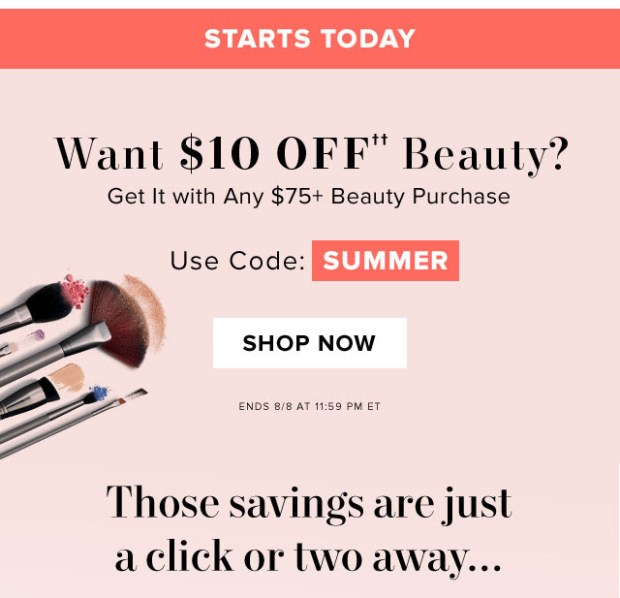 Hudson's Bay Canada The Bay HBC Canadian Coupon Code Promo Offer Bay Beauty BAYBEAUTY Save on Beauty Purchase Makeup Skin Care Fragrances Summer July August 2019 - Glossense