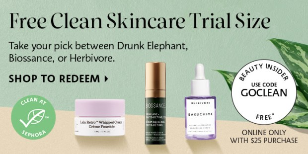 Sephora Canada Canadian Beauty Offers Promo Code Coupon Codes Most Clean Skincare SOCLEAN Glowing Skin Care Makeup SkinCare Free Mini Deluxe Samples Drunk Elephant Biossance Herbivore - Glossense