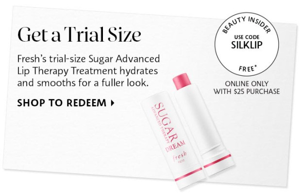 Sephora Canada Canadian Coupon Code Promo Codes Beauty Offer Free Fresh Sugar Advanced Lip Therapy Lip Balm Skincare Skin Care Mini Deluxe Trial Sample GWP Gift with Purchase - Glossense