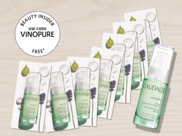 Sephora Canada Canadian Promo Code Coupon Beauty Offer Free Caudalie Vinopure Sample Set 7 Free Samples VINOPURE Serum - Glossense