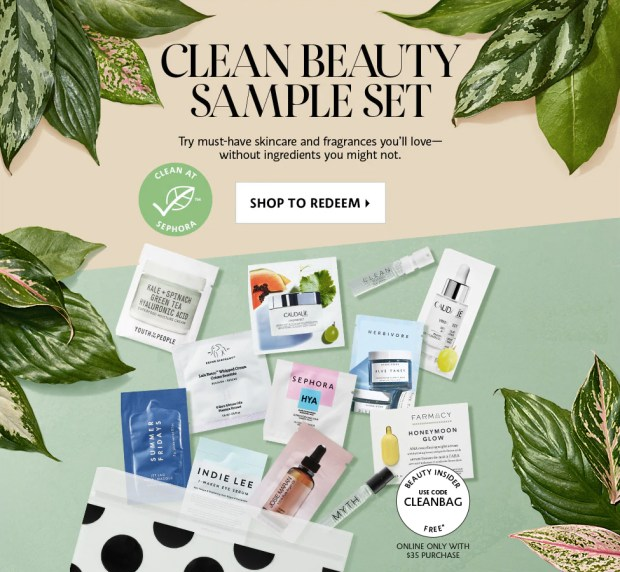 Sephora Canada Promo Code Canadian Coupon Codes Free Clean Beauty 12-pc Skincare Fragrance Sample Set Bag with Purchase July 2019 - Glossense