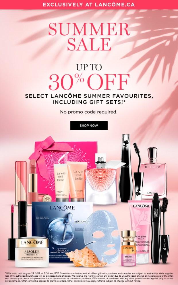 Lancome Canada Canadian Deals Summer Sale August 2019 - Glossense