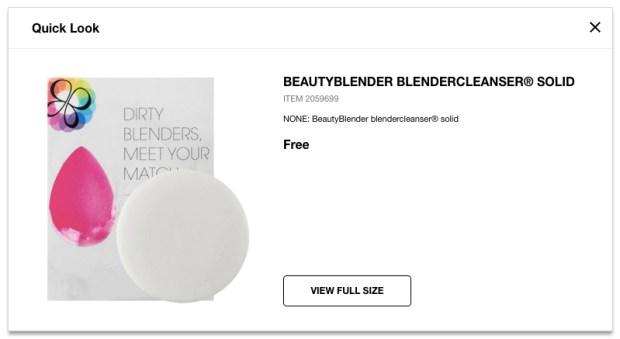 Sephora Canada Canadian Free Samples BeautyBlender BlenderCleanser Solid Mini Deluxe Travel Sample Soap - Glossense