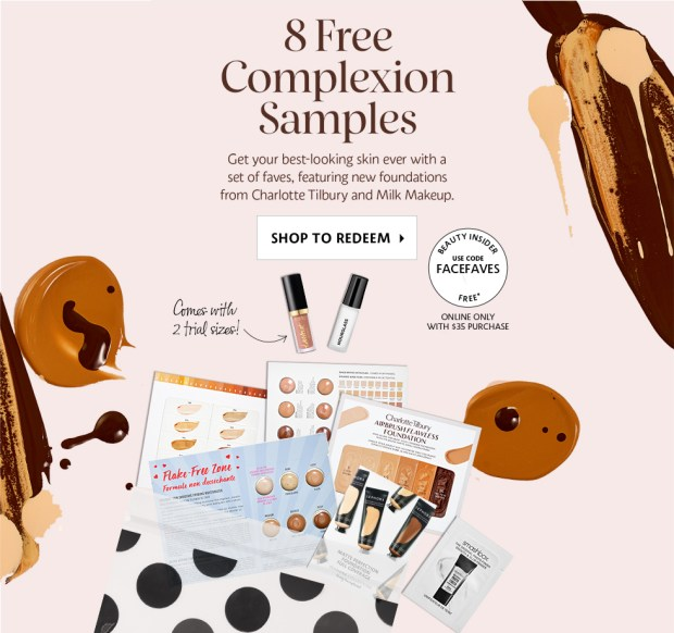 Sephora Canada FACEFAVES Canadian Promo Code Coupon Codes Beauty Offer Free Foundation Complexion Sample Set Plus Hourglass and Tarte Lip Deluxe Mini Trial Sizes August 2019 - Glossense