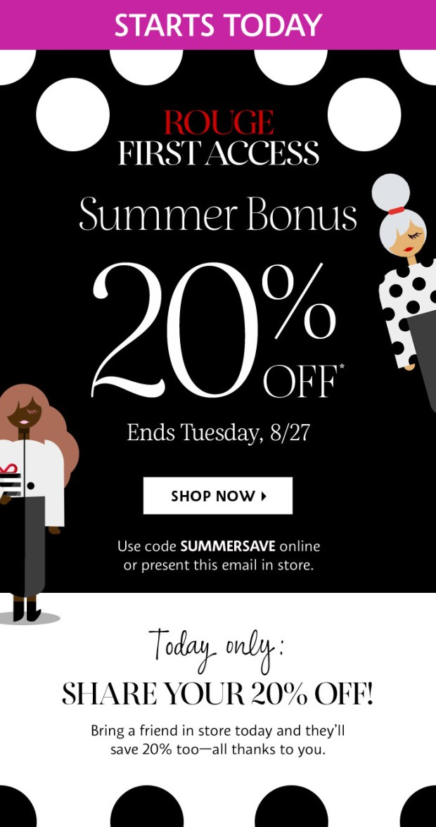 Sephora Canada Summer Bonus Sale August 2019 Canadian Sale Deal Deals Rouge Members Early Access August 19 2019 Beauty Insider Event Savings Discount Promo Code Coupon Codes - Glossense