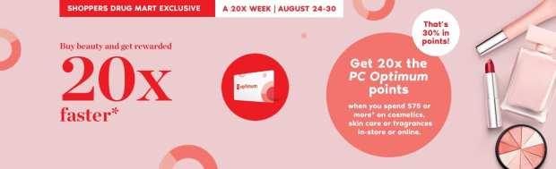 Shoppers Drug Mart Canada SDM Canadian Beauty Boutique PC Optimum Offer Bonus Beauty Get Rewarded Free PC Points August 30 2019 - Glossense