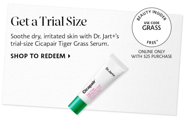 Sephora Canada Canadian Coupon Code Promo Codes Beauty Offer Free Dr. Jart Cicapair Tiger Grass Calming Gel Cream Mini Deluxe Trial Sample GWP Gift with Purchase - Glossense