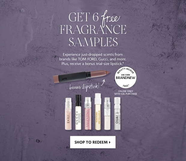 Sephora Canada Fall September 2019 Canadian Perfume Fragrances Promotion Promo Code Coupon Code Free Fragrance Sampler Free Perfume Set Lipstick Treat Gift - Glossense