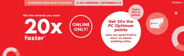 Shoppers Drug Mart Canada SDM Canadian Beauty Boutique PC Optimum Offer Bonus Beauty Get Rewarded Free PC Points 20x 125 September 6 8 2019 - Glossense