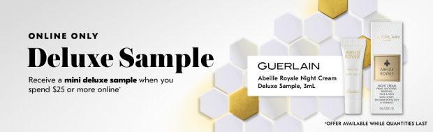 Shoppers Drug Mart SDM Beauty Boutique Canada 2019 Canadian Freebies Deals GWP Free Guerlain Abeille Royale Night Cream Skincare Mini Deluxe Sample - Glossense