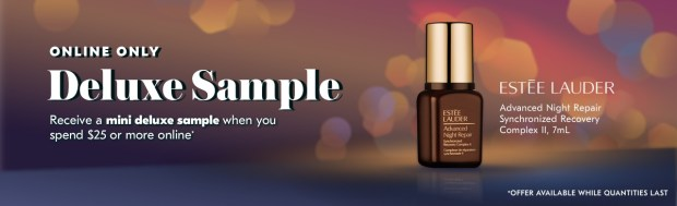 Shoppers Drug Mart SDM Beauty Boutique Canada September 2019 Canadian Freebies Deals GWP Free Estee Lauder Advanced Night Repair Synchronized Recovery Complex Skincare Mini Deluxe Sample - Glossense