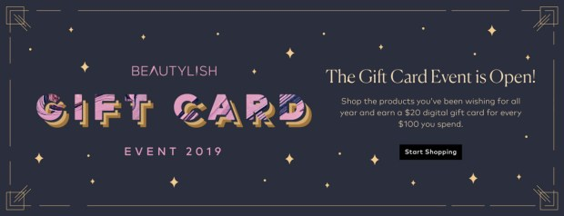 Beautylish Canada Gift Card Event 2019 is Open October 22 2019 Annual Canadian Holiday Promotion - Glossense