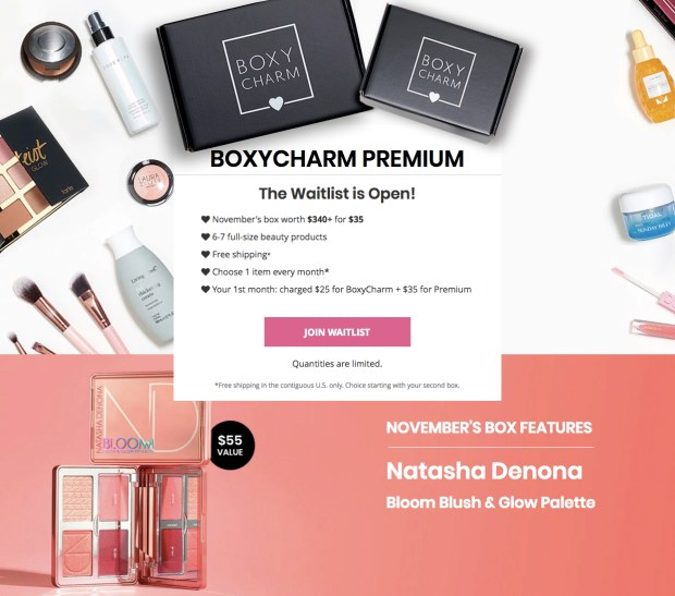BoxyCharm Canada BoxyCharm Premium Waitlist is Open Canadian Beauty Subscription Box October 16 2019 - Glossense