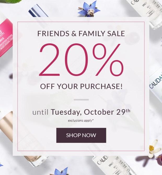 Caudalie Canada Canadian Deals Friends and Family Sale 2019 Event Savings Spa Discounts Skincare - Glossense