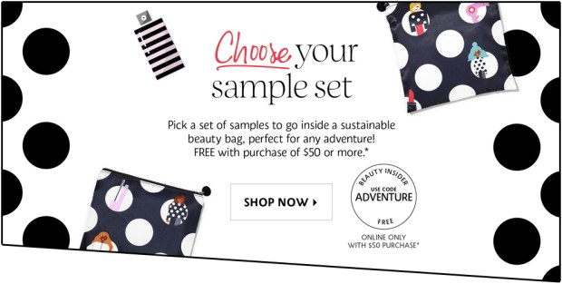 Sephora Canada Canadian Promo Coupon Code 2019 Choose Your Free Adventure Holiday Christmas Gift Goody Goodie Bag with Purchase GWP Canadian Freebies Beauty Mini Deluxe Samples - Glossense