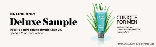 Shoppers Drug Mart SDM Beauty Boutique Canada 2019 Canadian Freebies Deals GWP Free Clinique for Men Hydrator Skincare Mini Deluxe Sample - Glossense