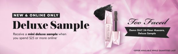 Shoppers Drug Mart SDM Beauty Boutique Canada 2019 Canadian Freebies Deals GWP Free Too Faced Damn Girl Mascara Mini Deluxe Sample - Glossense