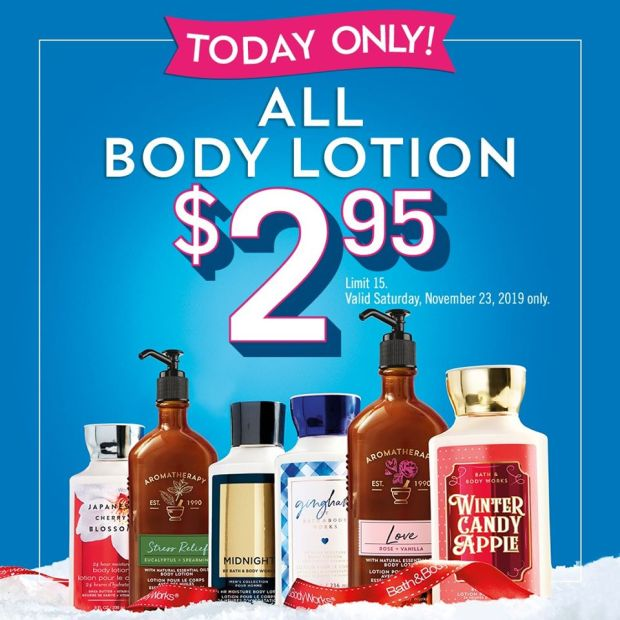 Bath and Body Works Canada 2019 Pre Black Friday Canadian Sale Cheap Body Lotion - Glossense