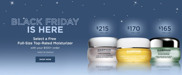 Darphin Canada Free 2019 Black Friday Gift Choose a Full-size Moisturizer with Purchase Canadian Deals GWP Offer - Glossense