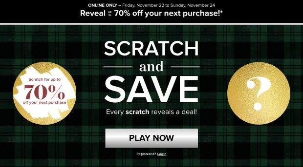 Hudson S Bay Canada Scratch Save Up To 70 Off 2019 Canadian Contest Promo Code