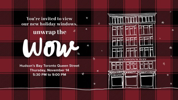 Hudson's Bay Canada Toronto Ontario Unwrap the Wow Canadian Event New Holiday Windows Special Shopping Offers Christmas 2019 - Glossense