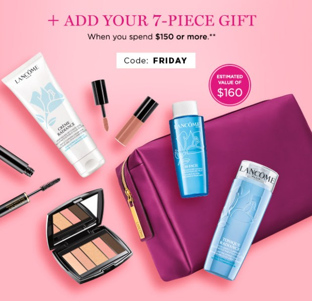 Lancome Canada 2019 Black Friday Sale Canadian Deals Free Gift with Purchase GWP Offer Promo Coupon Code - Glossense