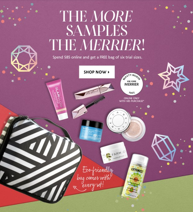 Sephora Canada Choose Your 2019 Free Holiday Sample Goody Bag w Purchase Canadian GWP Offer In-store Online 2 - Glossense