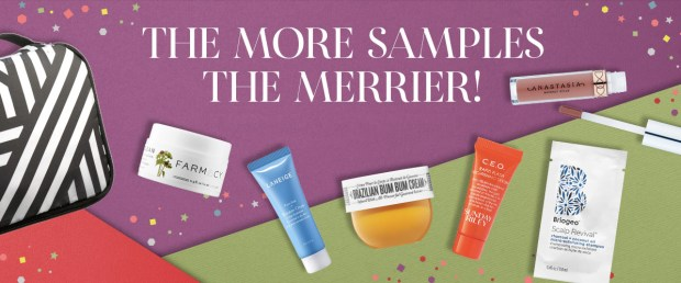Sephora Canada Choose Your 2019 Free Holiday Sample Goody Bag w Purchase Canadian GWP Offer In-store Online - Glossense