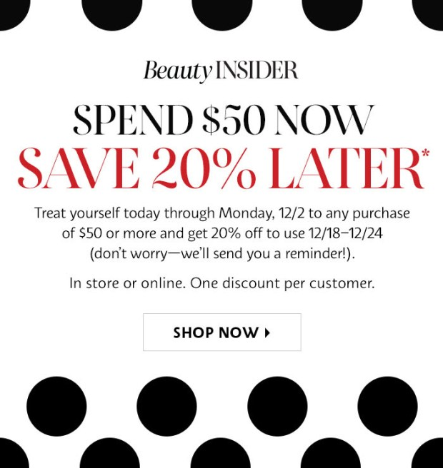 Sephora Canada Shop Now and Save 20 Off Later 2019 Canadian Holiday Deals - Glossense