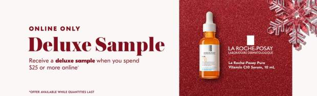 Shoppers Drug Mart SDM Beauty Boutique Canada 2019 Canadian Freebies Deals GWP Free La Roche-Posay Vitamin C10 Serum Skincare Mini Deluxe Sample - Glossense