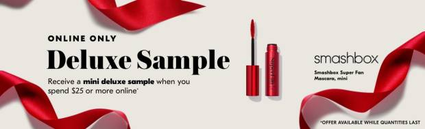 Shoppers Drug Mart SDM Beauty Boutique Canada 2019 Canadian Freebies Deals GWP Free Smashbox Super Fan Mascara Makeup Mini Deluxe Sample - Glossense