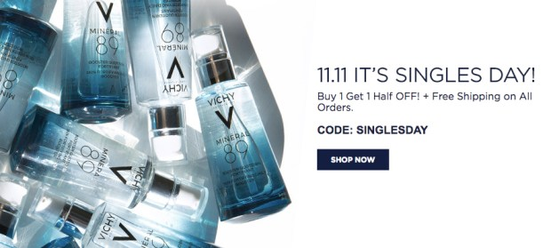 Vichy Canada Singles Day BOGO Sale Buy 1 Get 1 50 Off Free Shipping on ALL Orders 2019 Canadian Deals - Glossense